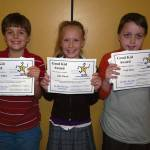 SONGO LOCKS Good Kid Award winners include: (left to right) Evan Willey, Julia Murch and Cody Bean.