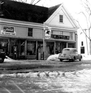 HERE STOOD A GENERAL STORE — Since the first of its three structures was built in 1837 in Lovell Village, this building, destroyed by fire in February, has seen many owners and served many uses. But there was always one constant, at least until the mid-1980s — here stood a general store.