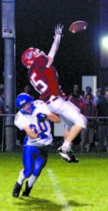 UPENDED — Lake Region defensive back Cam Harriman upends Gray-NG receiver Justin McKenna. (Rivet Photos)