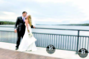 BARBARA BECKWITH AND HER GROOM, T.J., pose on the Naples Causeway on their wedding day two years ago. In 2014, the Naples Causeway construction project won an America's Transportation Award in the category of quality of place and community development. (Photo courtesy of Barbara Beckwith)